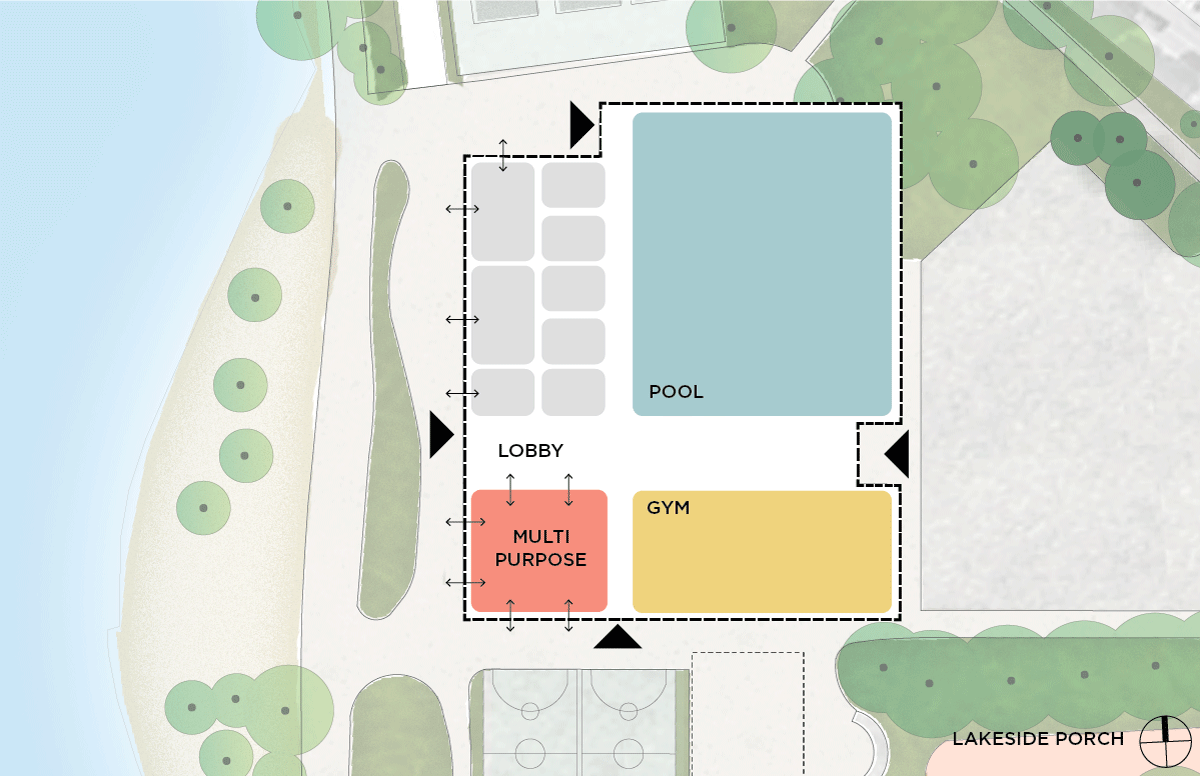 Image showing a floor plan for the Lakeside Porch design.