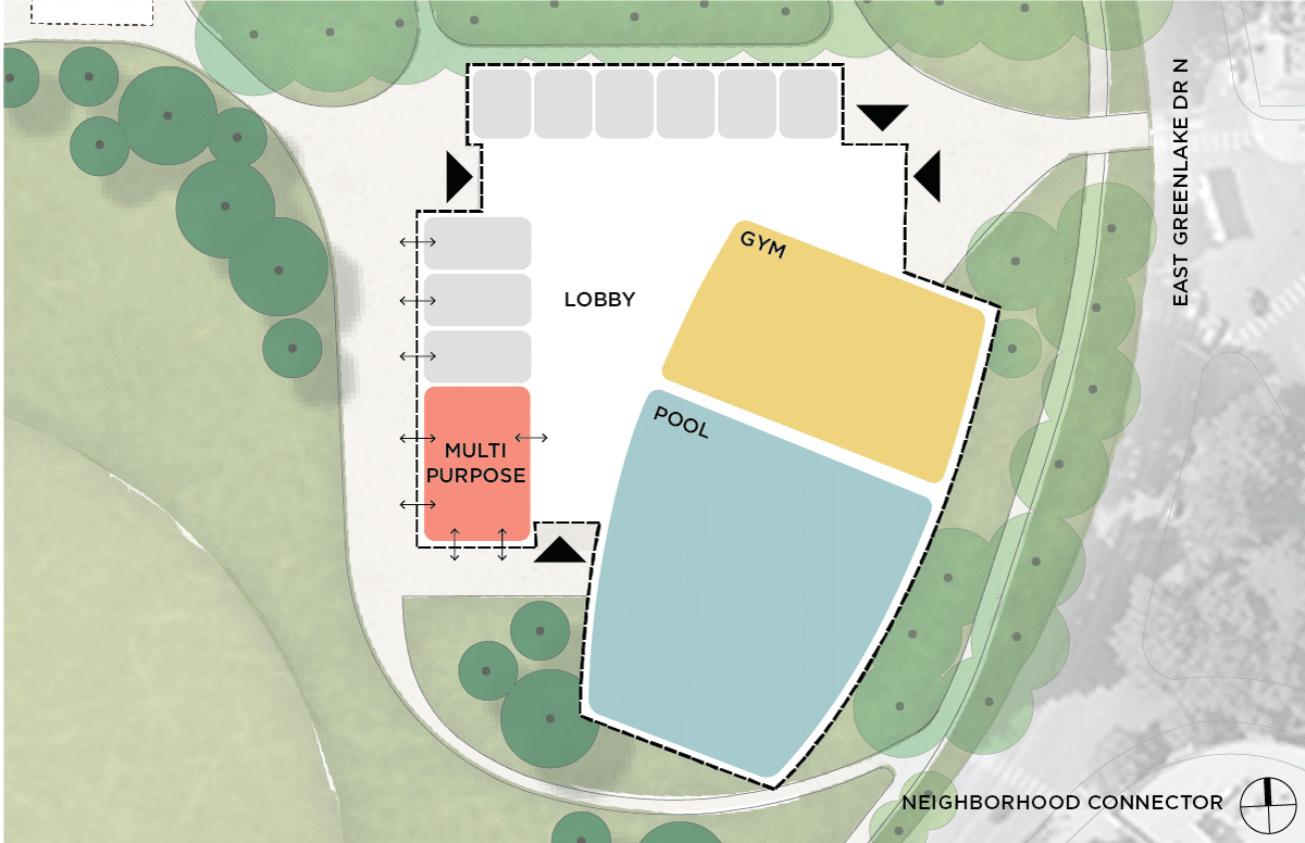 Image showing a floor plan for the Neighborhood Connection design.